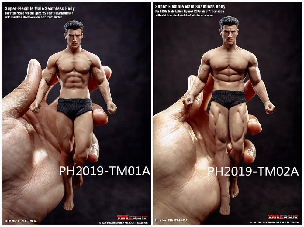 1//6 Phicen Super Flexible Steel Male Muscular Seamless Body M36 B Ver TBLeague