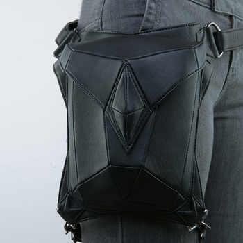 Norbinus Goth Women PU Leather Waist Fanny Leg Bag Drop Belt Hip Motorcycle Punk Rock Messenger Shoulder Crossbody Holster Pack