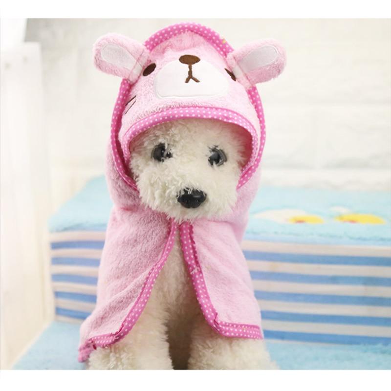 Pet Dog Bath Towel Teddy Bath Towel Imitation Deerskin Super Absorption Large Cat Spring Summer Bath