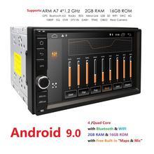 2 din android 9.0 2din New universal Car Radio Auto Doppio Lettore di Navigazione GPS In dash PC per auto Stereo video 2G di RAM DVR SWC BT 4G