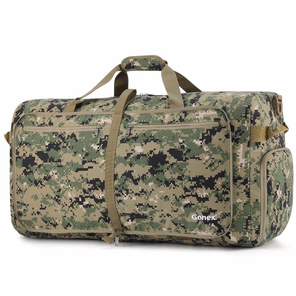 Gonex 100L Cordura voyage sac de voyage pliable bagage polochon pratique sac à bandoulière tactique Style militaire voyage d'affaires Gym Sports