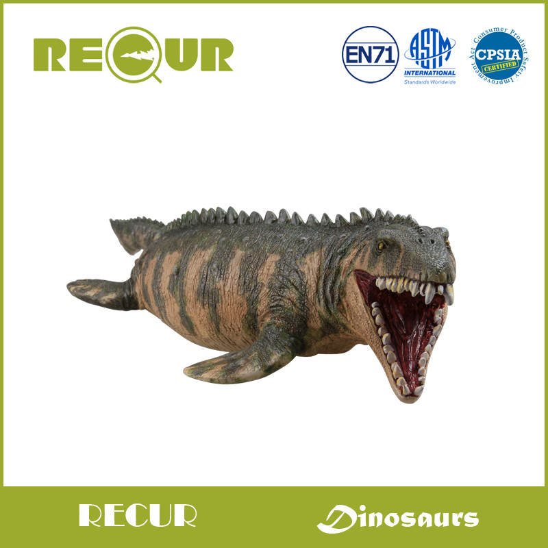 где купить  Recur Original Design Classic Mosasaurus Model Delicate Hand Painted PVC Dinosaur Action Figure Soft Dinosaur Toys For Children  по лучшей цене