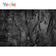 Yeele Dark Black Carbon Stone Marble Surface Texture Pattern Portrait Photography Background Photographic Backdrops Photo Studio