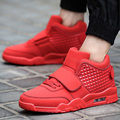 2016 Hombres de la Marca Casual Zapatos Para Caminar Transpirables Amantes Zapatos del Top del Alto de Aire Deporte Basket Entrenadores Superestrella Zapatillas Ocio Rojo