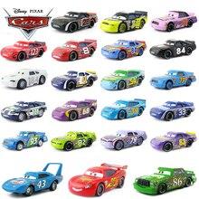 Disney Pixar voitures coureurs poussin Hicks foudre McQueen roi NO.4 NO.123 1:55 métal moulé sous pression jouets modèle de voiture pour garçons enfants cadeau