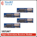 20pcs/Lot Low power consumption SRX887 433MHz  superheterodyne wireless receiver module with Spring Antenna