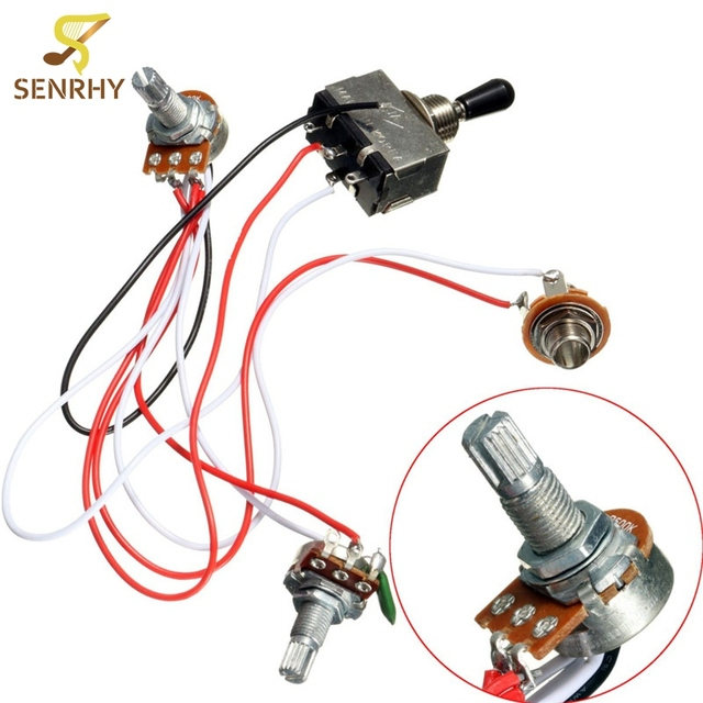electric guitar wiring harness kit 3 way toggle switch 1 volume 1 rh aliexpress com Custom Guitar Wiring Harness Guitar Varitone Wiring Harness