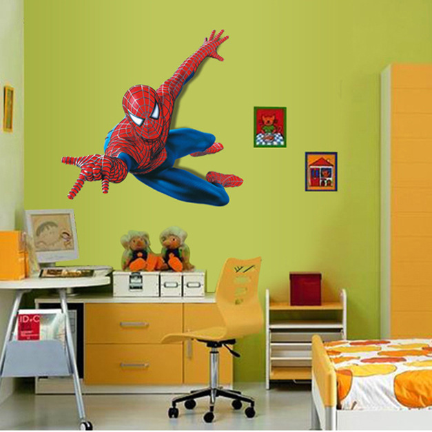 3D Home decor wall stickers wall stickers Spiderman superhero boy ...