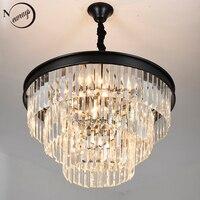 Vintage American Art deco Crystal K9 LED Modern Cake Chandelier Lamp Lustres Lights E14 For Living room bedroom restaurant loft