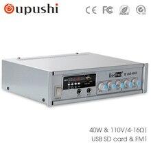 Envío libre USB-40ABmini amplificador con BlueTooth Reproductor de Mp3 Radio fm USB MICRO SD