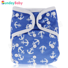 1 pc New arrival waterproof baby all in one cloth diaper with 2 pcs absorbent baby bamboo insert wholesale