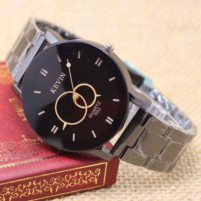 2017 1Pc Classic  Design Black Stainless Steel Band Round Dial Quartz Wrist Watch Women Gift wholesale  July04 iw 8758g 3 men s and women s quartz watch fabric classic canterbury stainless steel watch with multi color striped band