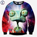 Mr.1991INC New hoodies men/women's tops clothes funny print big eyes animals red lightning printing 3d sweatshirts