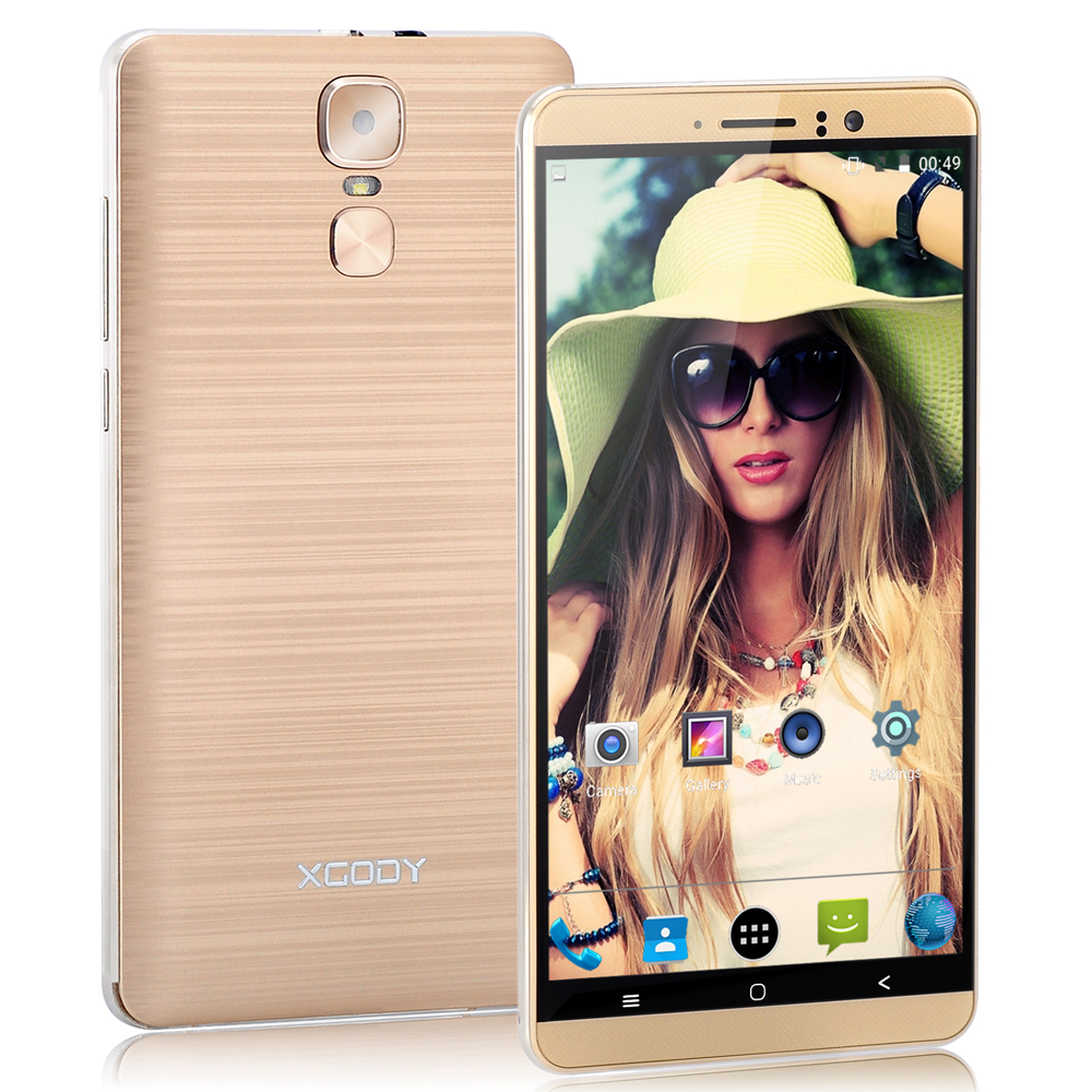 XGODY 3G Dual Sim Smartphone 6 Inch Android 5.1 1GB RAM 8GB ROM MTK6580 Quad Core Mobile Phone 5MP Camera WiFi Telefone Celular-in Cellphones from Cellphones & Telecommunications    3