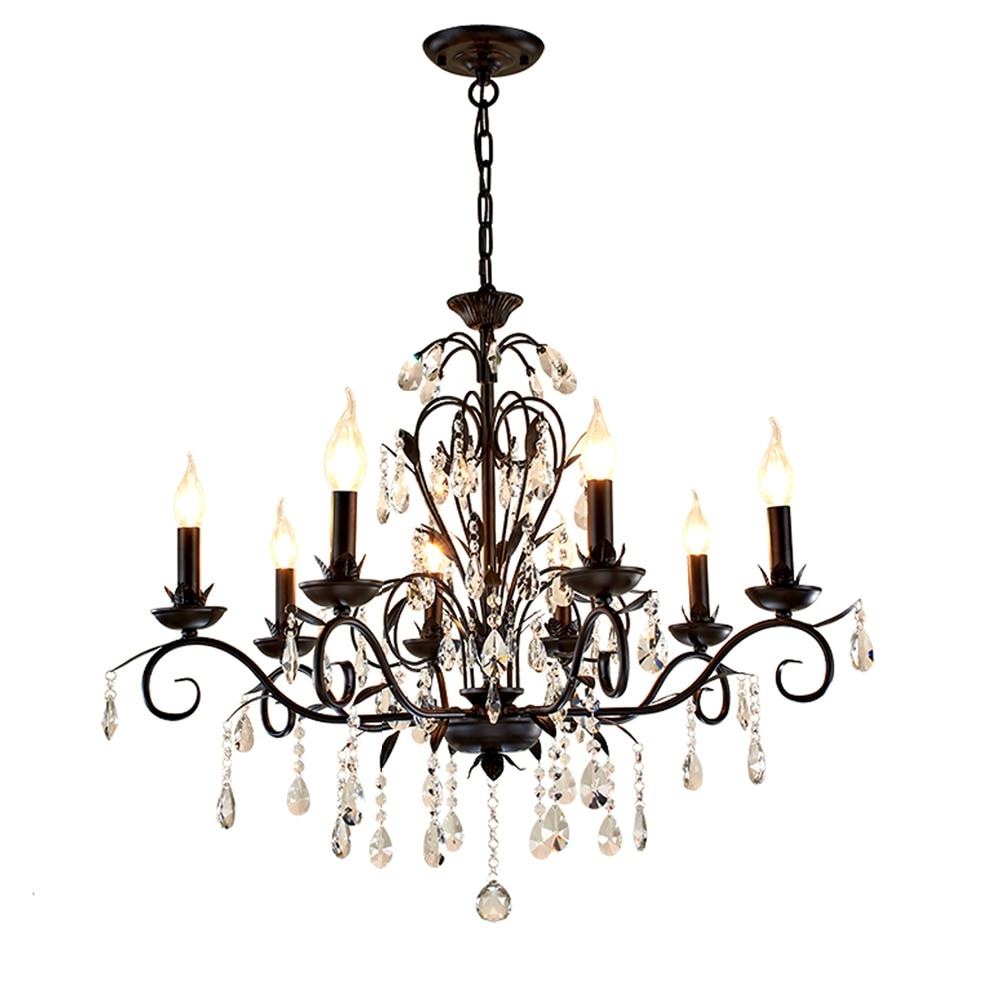 rustic lighting retro chandelier pendant black iron candle chandelier living room kitchen chandelier lighting lamp bedroom