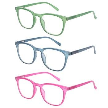 c77b5fb078 2018 nuevo retro marcos de gafas 3 pack bisagra de resorte de Primavera de  diseño de calidad hombres y mujeres gafas 0,5, 1,0, 1,5, 2,0 2,5, 3,0, 4,0,