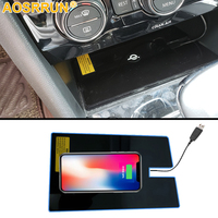 Special on board QI wireless phone charging Pad Panel Car Accessories For Volkswagen VW Tiguan MK2 2017 2018