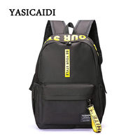 Fashion Nylon Women Backpacks Letter Printing School Backpacks For Teenage Girls Large Capacity Daypack Women Backpack