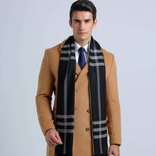 Men Scarf Bufandas Winter font b Tartan b font Foulard Luxury Brand Men Casual Business Scarf