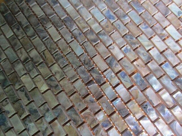 Schwarz Farbe Fliesen Großhandel Natürliche Farbe Perlmutt Shell Wand  Mosaik Ziegel Fliesen Für Innendekoration Freies Verschiffen
