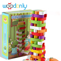 Advanced Wooden Tower Blocks toys for children vegetables Stacker Extraction Montessori Educational Jenga family games oyuncak