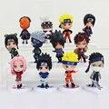 6 unids/set naruto gaara sasuke itachi obito killer b figuras de acción del anime de japón colección minifigure modelo muñeca de juguete de regalo para niños # eb