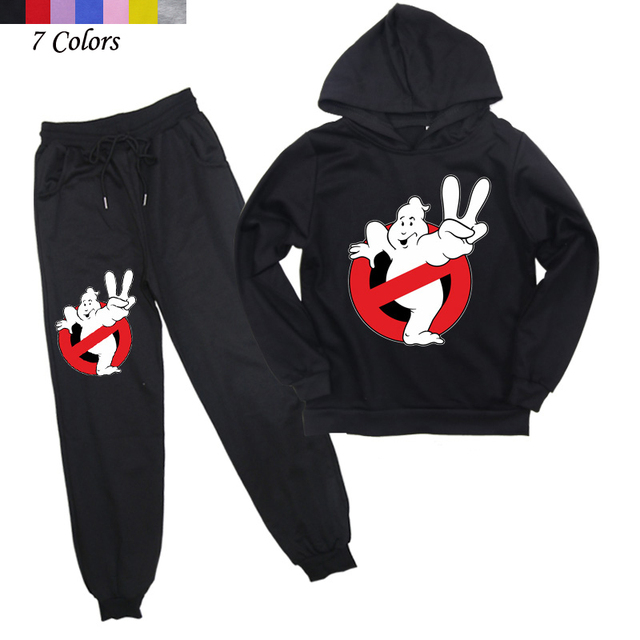 2Pcs ילדי מכסחי השדים בגדי בני בנות ברדס סווטשירט הרמון מכנסיים ילדים להאריך ימים יותר ספורט חליפת חליפת ריצה