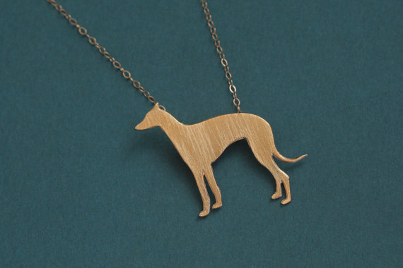 Wholesale Trendy Personalized Whippet Necklace Gold Silver Color Greyhound Dog Jewelry Statement Necklace Cs Go Collares