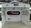 3X3 m Impressão Personalizada Publicidade Ao Ar Livre de Dobramento Popup Canopy/Custom Impresso 10X10FT Trade Show Tenda Tenda/frete grátis