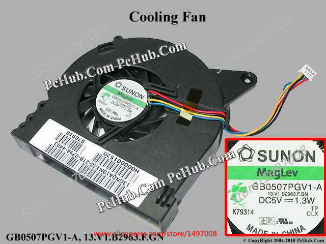 Free Shipping For SUNON GB0507PGV1-A, 13.V1.B2963.F.GN, DC 5V 1.3W 4-wire 4-pin connector 50mm 76x71x12mm Server Cooling fan connector rm12bpe 4ph 71