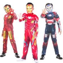 Marvel Infinity War Iron Man Costume Child Kids Boys Cosplay Muscle Superhero Halloween For