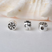 solid 925 sterling silver charm beads, Thai Silver spacer loose bead with 1.2mm hole jewelry diy components accessories(China)