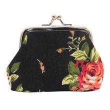Small Coin Purse Elegant Women's Purse Cloth Wallet Floral Pouch Wallet Card Holder Mini Clutch Money Bag Ladies Handbags