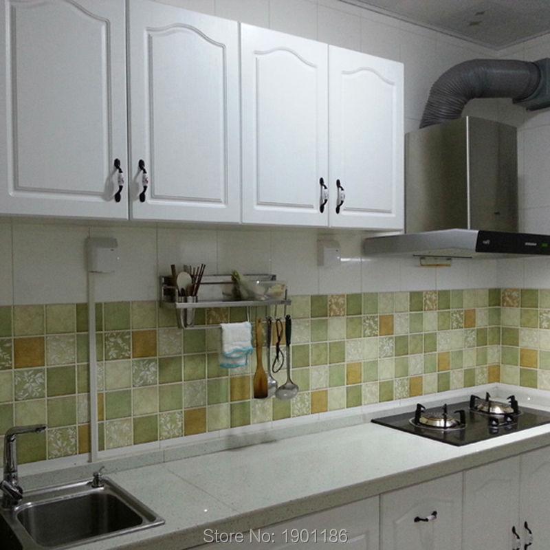 Mosaico de papel tapiz cocina aceite alta temperatura - Papel vinilo para cocinas ...