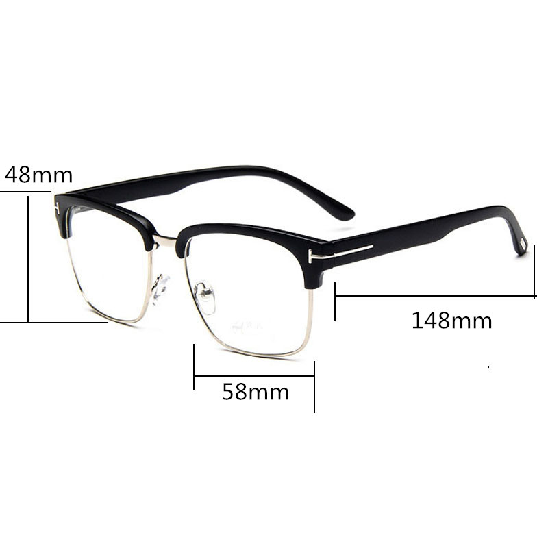 7d5c82192c7 Classic Square TF Glasses Frame Men Women Myopia Prescription Clear Lens  Glasses Frames Optical Reading Eyeglasses Eyewear UV400-in Eyewear Frames  from ...