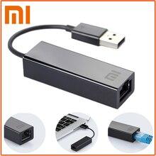 Оригинальный xiaomi USB к RJ45 внешняя карта Ethernet lan Adapter 10/100 Мбит/с для xiaomi ТВ коробка 3 Pro 3 S Mac операционная система, ноутбук PC Smart