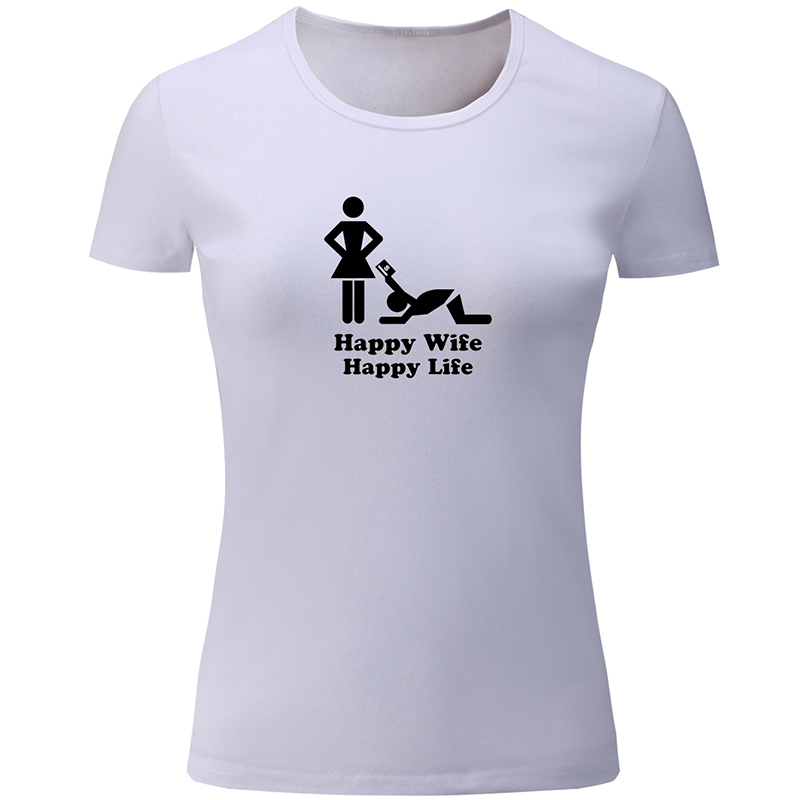 US $9.0 47% OFF|Cats and Caffeine I Love It When My Girlfriend Happy Wife  Happy Life Husband Quotes Design Womens Ladies Printing T shirt Tops-in ...