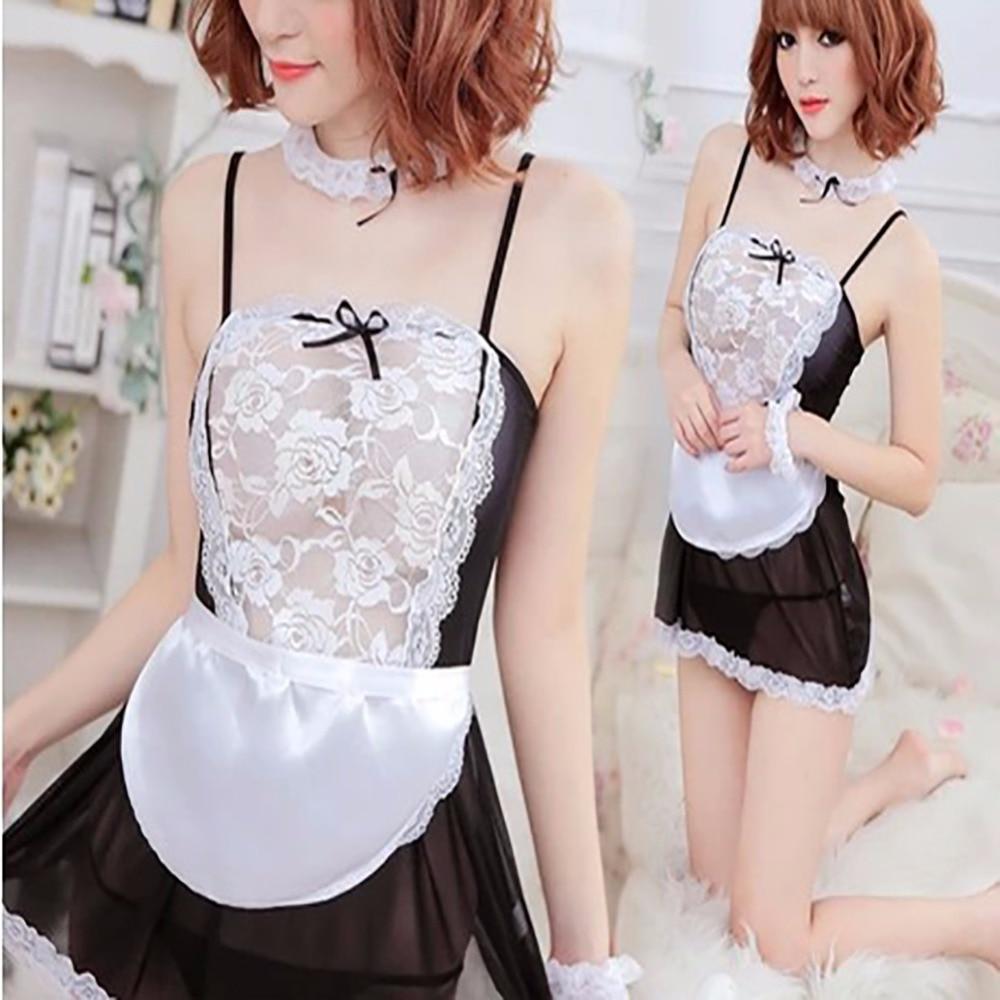 Ishine franc s cosplay uniforme de sirvienta sexy vestido for Ropa interior eroctica