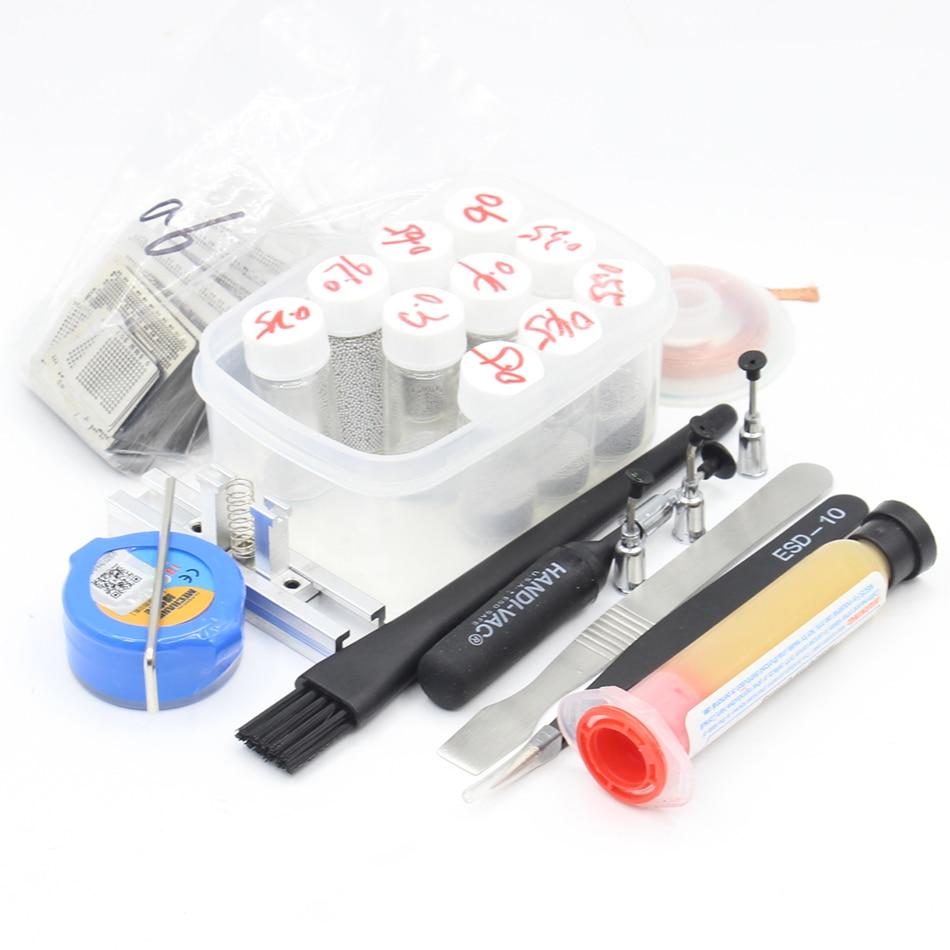 110pcs BGA Reballing Directly Heat Stencils Solder Paste Balls Station BGA Reballing kit For SMT Rework Repair Solder paste Flux free shipping direct heat ps4 stencils 0 4mm 0 55mm solder ball bga reballing stencils