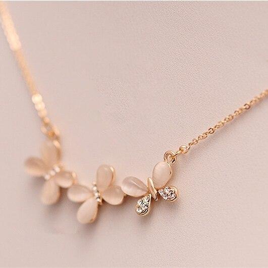 Opal Butterfly Necklace