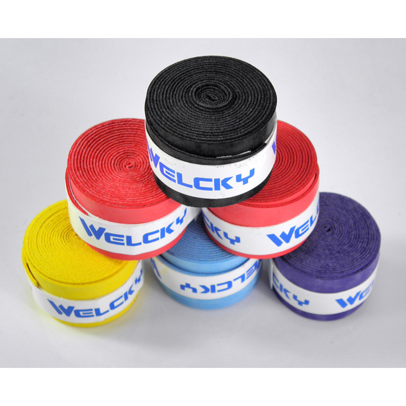 10 Pieces Absorb-sweat Tennis Squash Racquet Band Stretchy Grip Tape Outdoor Sports Squash Bands Wholesale