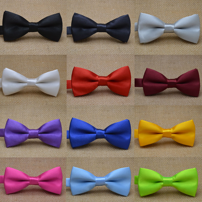 Classic Kid Bowtie Boys Grils Baby Children Bow Tie Fashion 25 Solid Color Mint Green Red Black White Green Pets Cravate