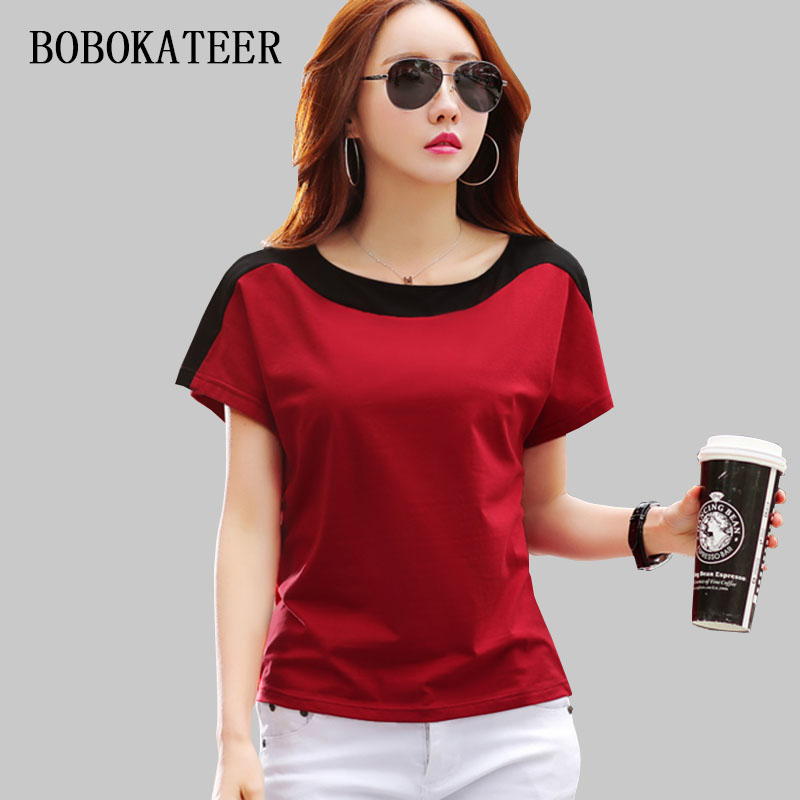 BOBOKATEER tee shirt femme tshirt women t shirt summer tops for women funny t shirts cotton sexy t-shirt camisetas mujer