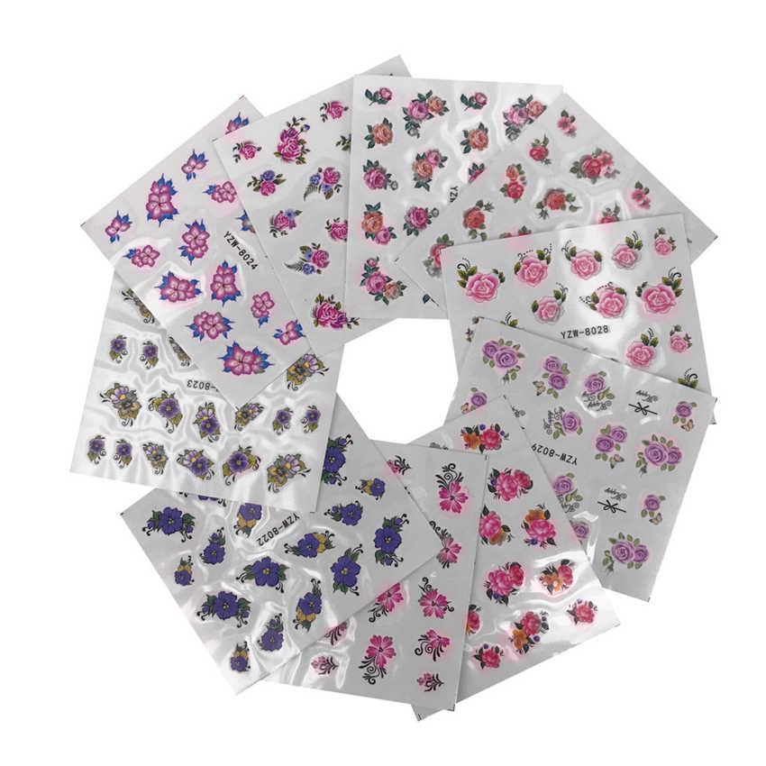 OutTop สติกเกอร์สำหรับเล็บ DIY เล็บ Applique กาวดอกไม้หวายเล็บสติกเกอร์ออกแบบลูกไม้เล็บเล็บฝรั่งเศส G24 0.5 5