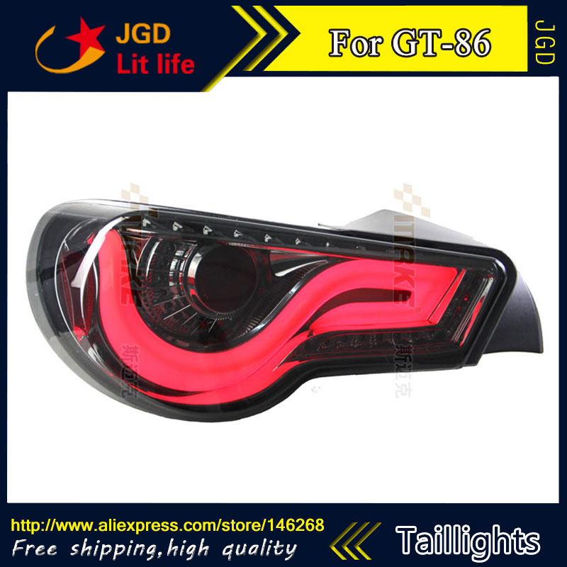 Car Styling tail lights for Toyota GT86 LED Tail Lamp rear trunk lamp cover drl+signal+brake+reverse car styling tail lights for hyundai santa fe 2007 2013 taillights led tail lamp rear trunk lamp cover drl signal brake reverse