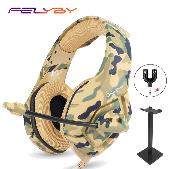 FELYBY 4 kinds of Professional Noise Canceling Studio Wired Gaming Earphone Headphone for Computer with Microphone for PS4