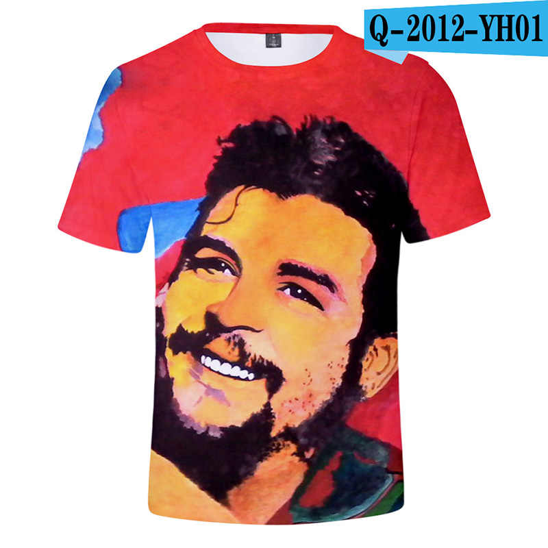 Hot Selling Men's Short Sleeve Cheguevara T-shirt 3D Digital Printing Trend Fashion Boy Girl Tops Summer Tshirt Women/Men