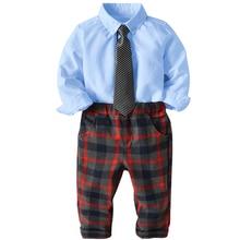 Boys Clothes Wedding party costume Fashion Baby Suit British Wind Children's Gen