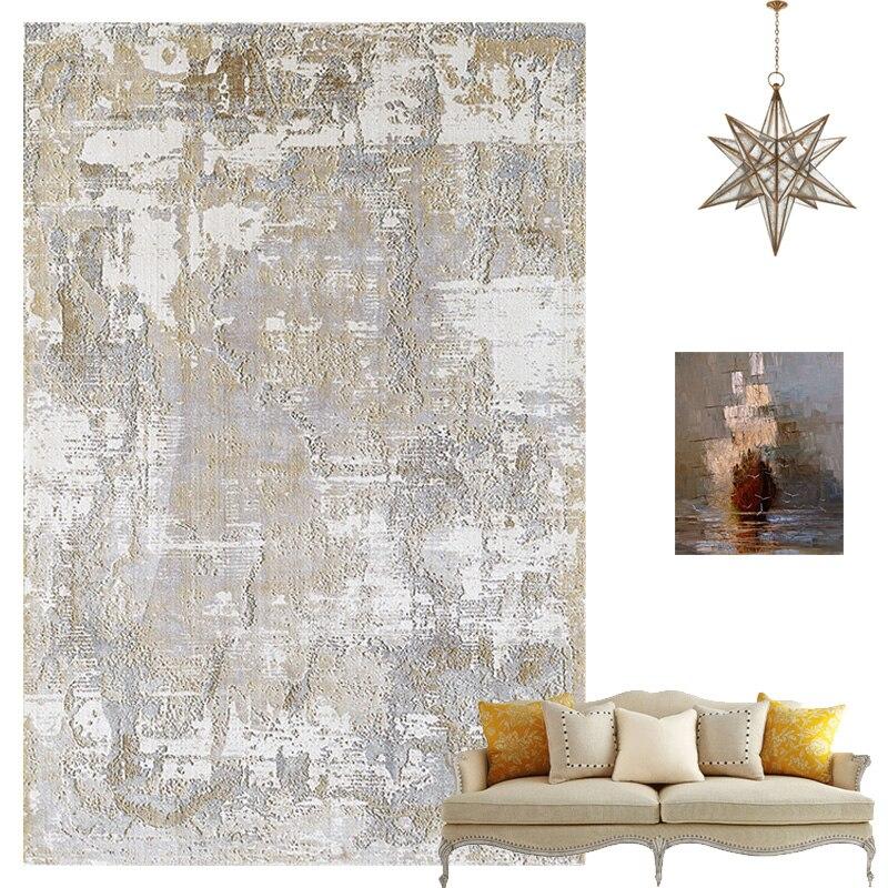 Tapis en coton doux et tapis pour la maison salon Style nordique moderne chevet chambre tapis tapis enfants chambre couloir étage Runner - 2