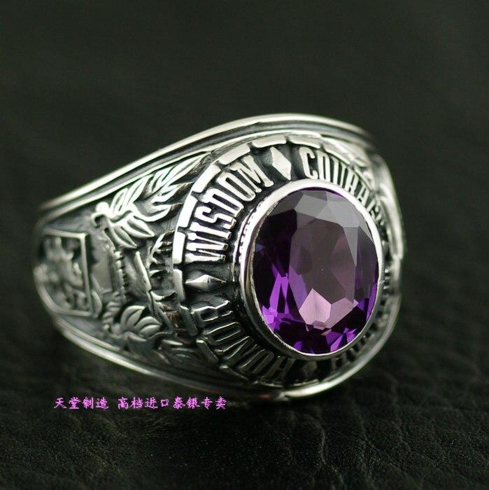 Натуральный камень кольцо поверхность Винтаж 925 чистого серебра тайский серебряное кольцо